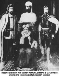 Indian masters and comte saint Germain surrounding Blavatsky